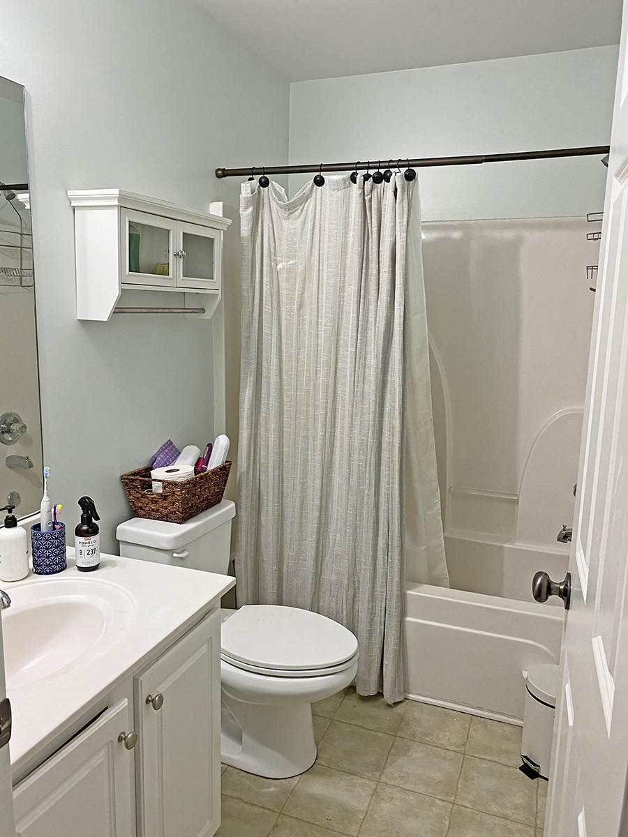a budget bathroom makeover in honor