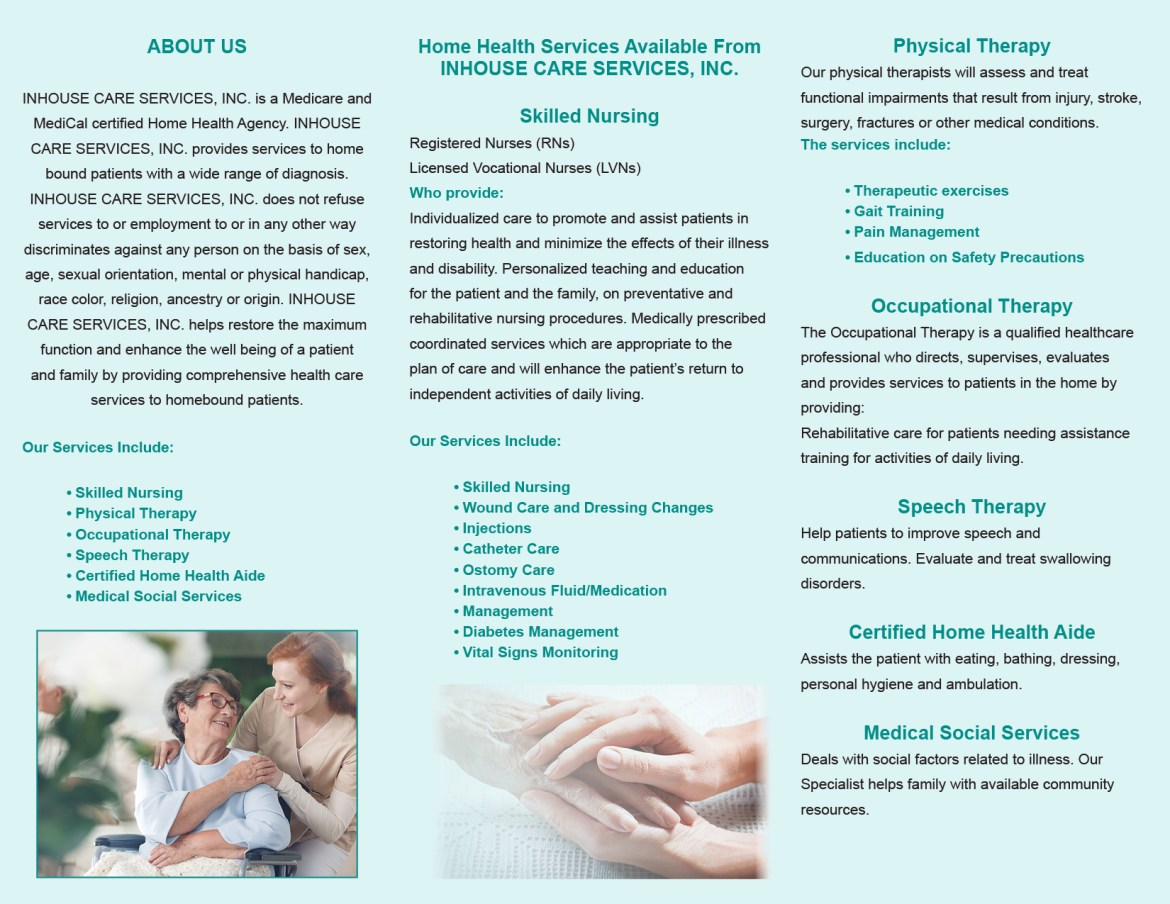 about in home health care services