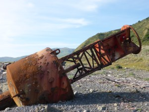 Remains of an old buoy washed up on the Lost Coast.