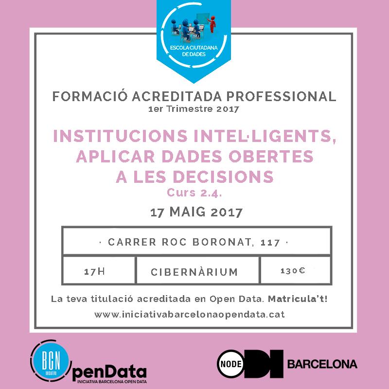 17/05 Institucions intel·ligents, aplicar dades obertes a les decisions Image