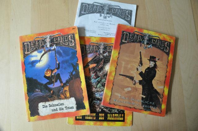 Os livros de RPG de DeadLands
