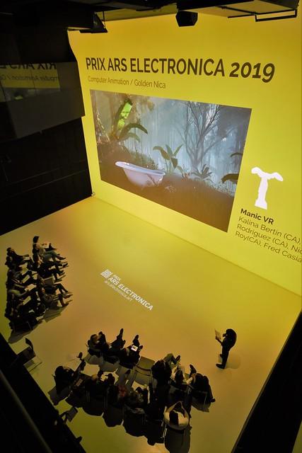 Presentación de VR en Prix Ars Electronica