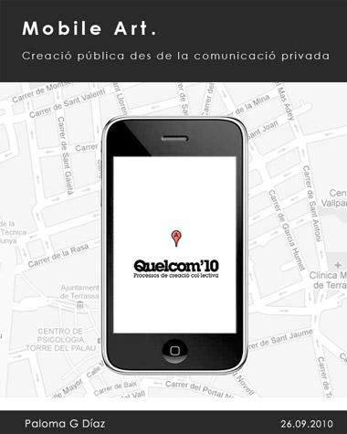 Cartel de Mobile Art en Quelcom