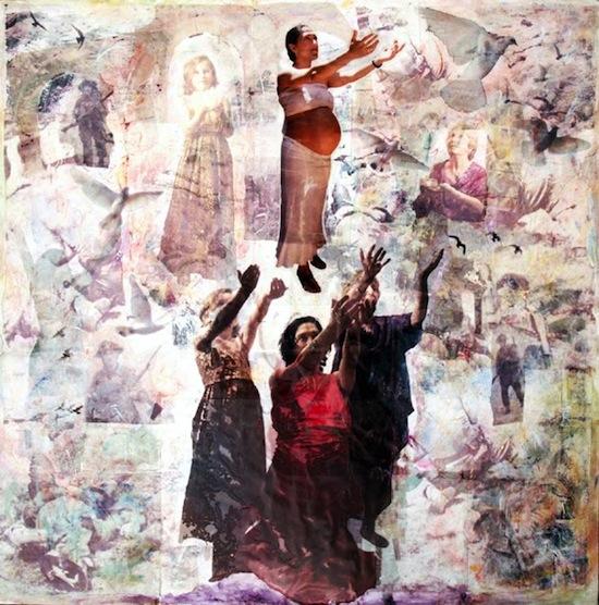 Obra de Jesús Coyto, parte del Movimiento La escalera
