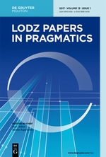 lodz Papers In Pragmatics