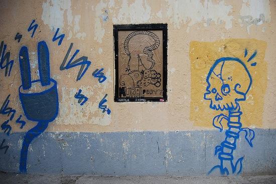 Nchufe y Borondo en la Mural Party de Lavapiés