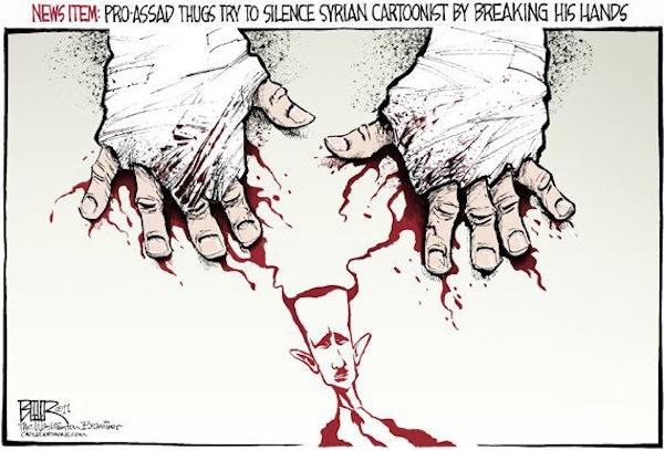 Siria 2012 en viñetas