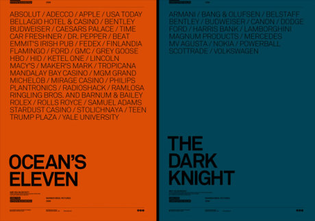 Posters de Oceans Eleven y The dark knight y por Atrepo4