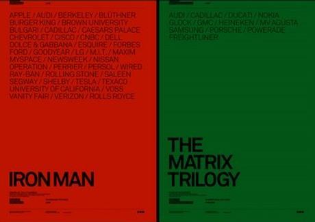 Posters de Iron Man y The Matrix por Atrepo4
