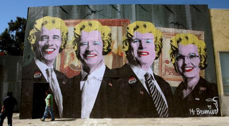 Obra de Mr. Brainwash sobre las elecciones del 2008