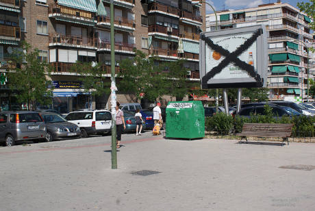 Publicidad intervenida en Madrid