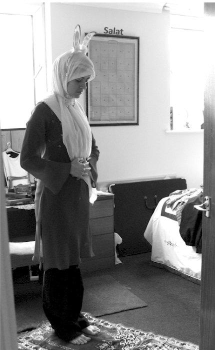Obra de Sarah Maple sobre la condición de musulman