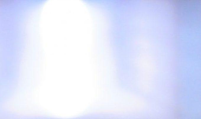 Stylized photo of bright white light bluish purple ambiance