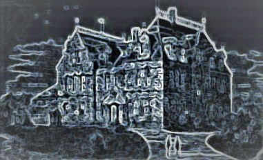 Stylized clip art photo of Victorian institution