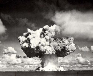 Stock photo of Bikini atoll nuclear explosion
