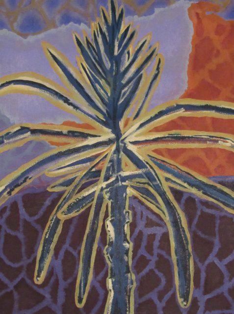 Oil painting of pine seedling