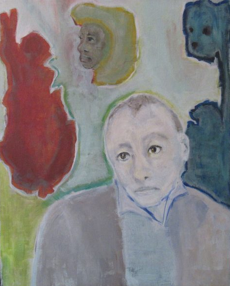 Oil painting of man who feels despairing