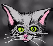 Digital painting of curious kitten signature image to My Curious Reading