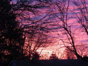 Photo of striated sunrise