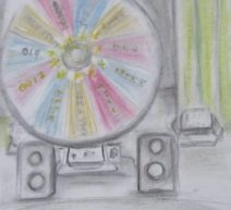 Short Stories prize wheel as used on game shows art for Spin the Wheel