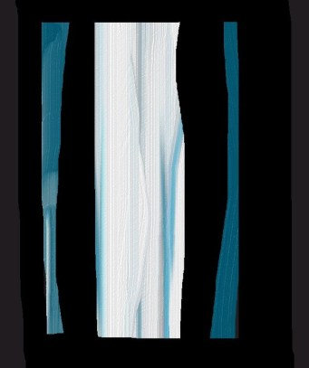 digital painting abstract irregular streaks of teal white and black art for poem Heavenward