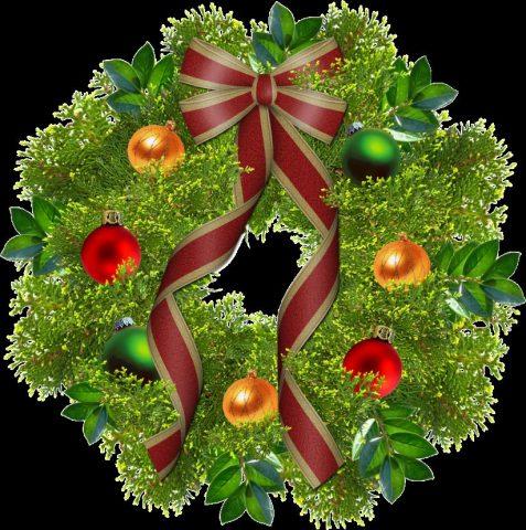 Stock image of Christmas wreath