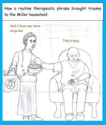 Cartoon of husband saying wrong thing