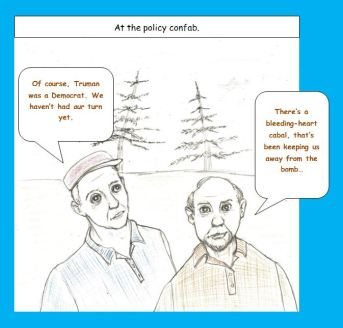 Cartoon of Republicans on retreat