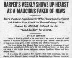 Newspaper clipping of Hearst accused of fake news