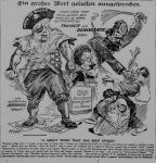 Cartoon from German language paper owned by W. R. Hearst