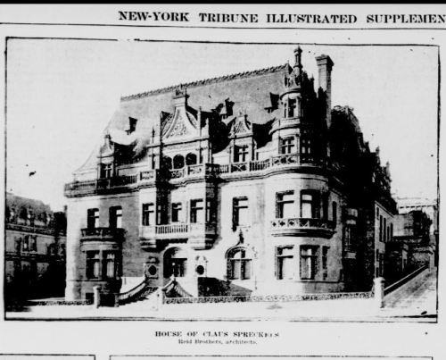 Newspaper clipping of Claus Spreckels SF mansion
