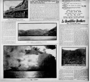 Newspaper clipping of 1902 volcano damage