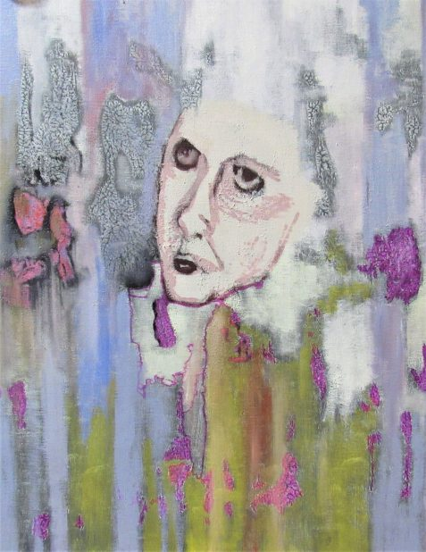 Uncollected Poems painting of angry female face art for poem Fair Enough