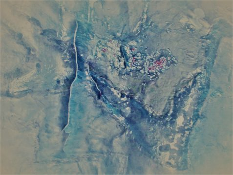 Stylized photo of satellite-viewed encampment