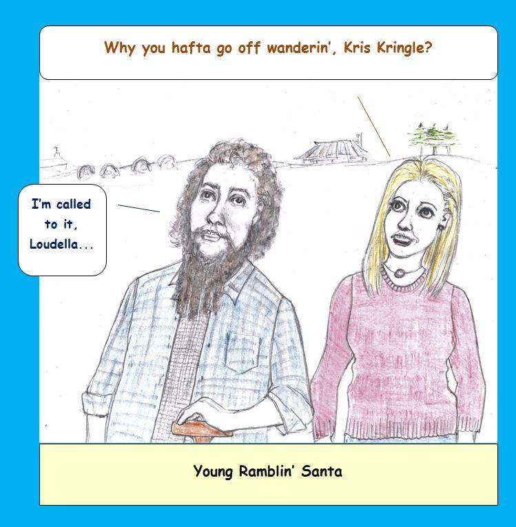 Cartoon of young Kris Kringle