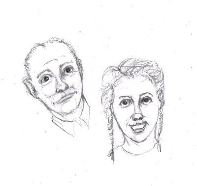 Drawing of man and woman