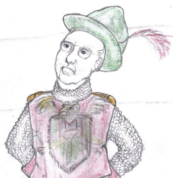 Cartoon of Mitch McConnell as apprentice knight