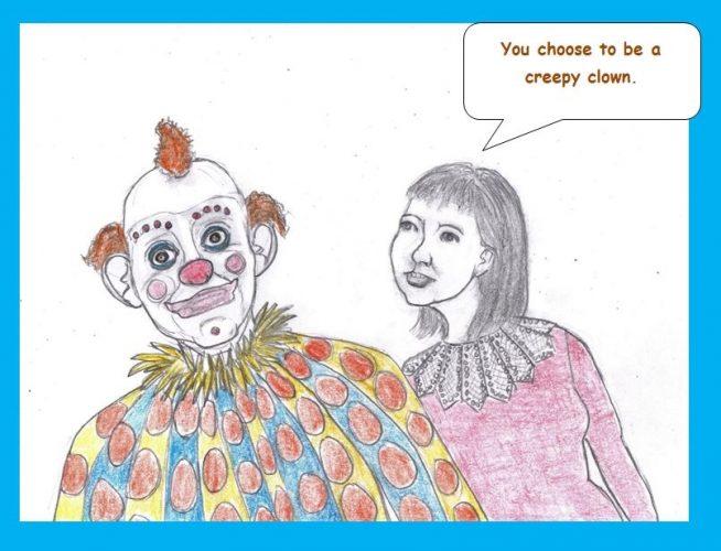 Cartoon of circus performers
