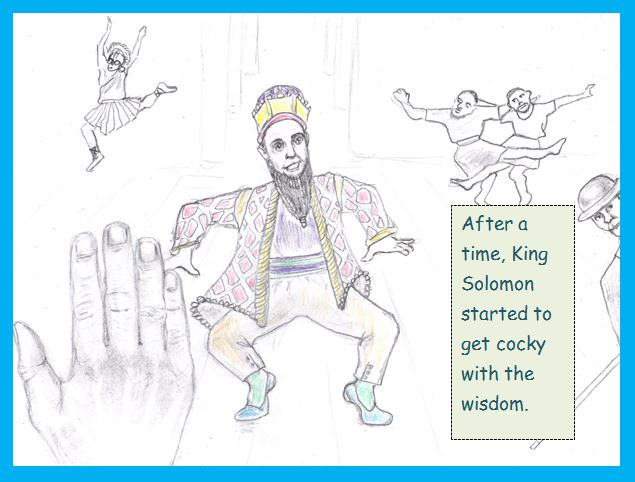 Cartoon of King Solomon