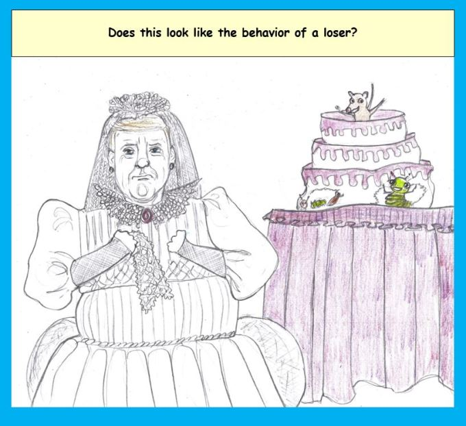 Cartoon of Trump as Miss Havisham