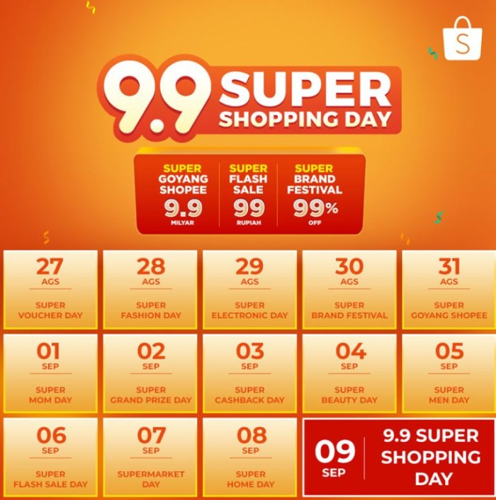 belanja hemat di shopee 9.9 super shopping day