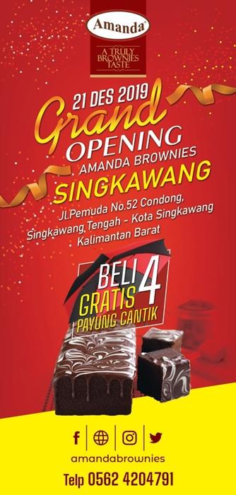 grand opening amanda brownies singkawang