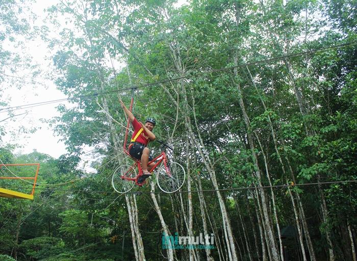 wahana sepeda gantung taman gunung sari