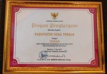 Penghargaan Pembangunan Daerah Tana Toraja