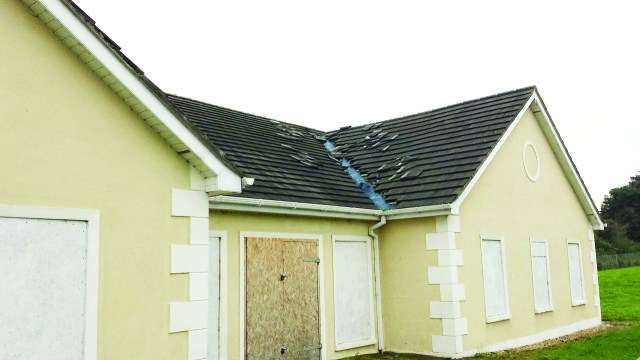 The communal building in Muff's Ard Ban was attacked by criminals on Monday night