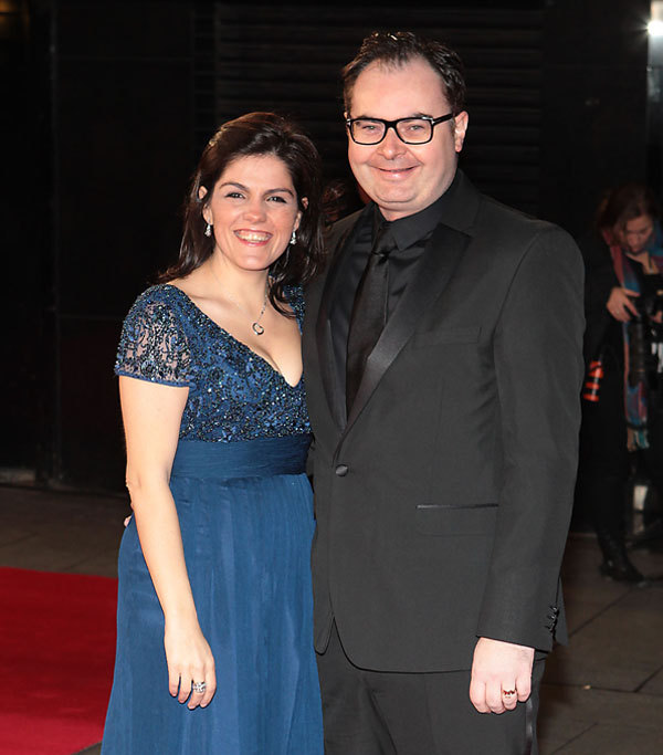 PAGE 9 pr69517_[1]_Troy Armour (Co-Founder Junk Kouture) with wife Ale at the premiere of Mandela in London.