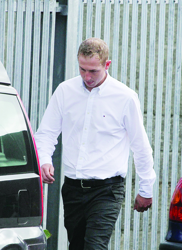 Shaun Kelly arriving at Letterkenny Circuit Court.  (North West Newspix)