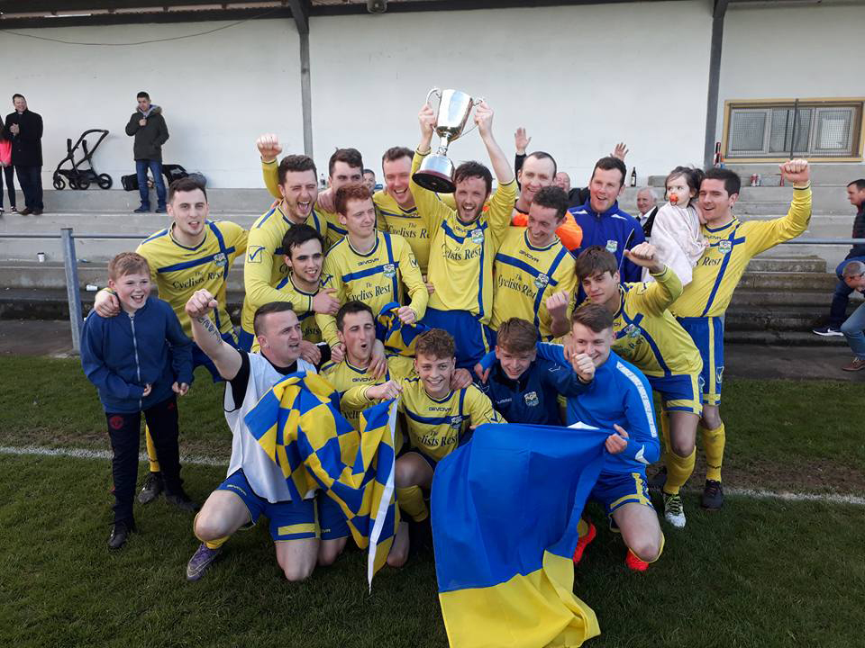 The Aileach squad pictured after winning their first ever Ulster Junior Cup.