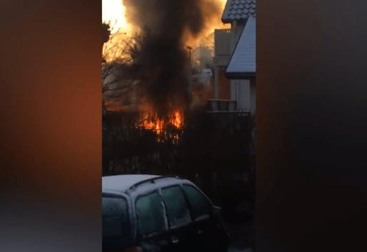 pesawat terbakar di rooneby