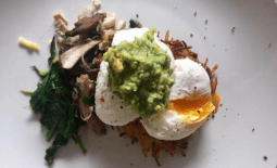 Poached eggs & potato rosti